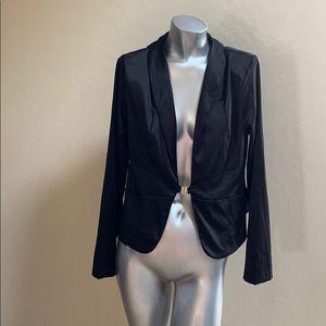 Celine Size XL Black Satin Jacket